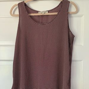 Maroon speckled tank top